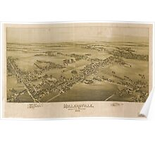 Panoramic Maps Millersville Lancaster County Pennsylvania 1894 Poster