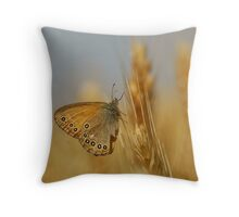 flower on the ear of wheat Throw Pillow