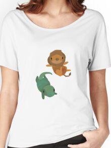 Lion and Dinosaur <3 Women's Relaxed Fit T-Shirt