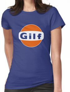 """""""GILF"""" - Gulf Gas Parody - Grandmother I Would Like to F&@K Womens Fitted T-Shirt"""
