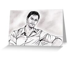 Richard Armitage, simply Greeting Card