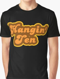 Hangin' Ten - Retro 70s - Logo Graphic T-Shirt