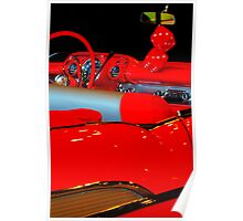 Chevrolet Beauty In Red Poster