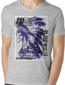 usa indians by rogers bros Mens V-Neck T-Shirt