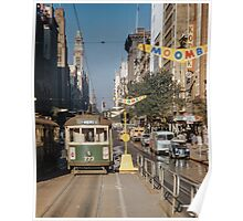 Collins street tram  19580305 0003  Poster