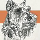 Miniature Schnauzer Father & Son by BarbBarcikKeith