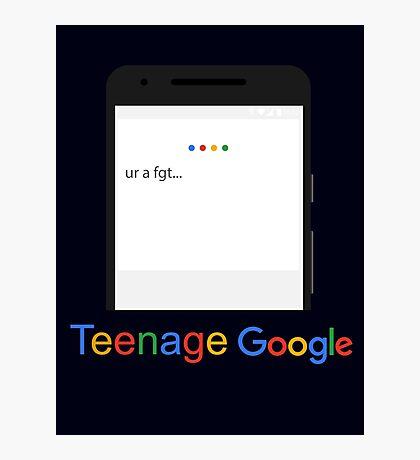 Teenage Google Photographic Print