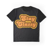 Stay Classy - Retro 70s - Logo Graphic T-Shirt