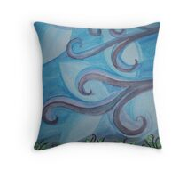 The Wind Above Trees Throw Pillow