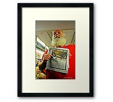 Man Going For Exorcist Job on New York Subway Framed Print
