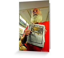 Man Going For Exorcist Job on New York Subway Greeting Card