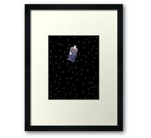 Police Box in Outerspace. Framed Print