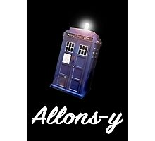 """""""Allons-y!"""" Public Call Box. Photographic Print"""