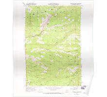 USGS Topo Map Washington State WA Foundation Ridge 241195 1967 24000 Poster