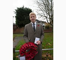 Jo Johnson MP lays a wreath on Orpington war memorial at a remembrance ceremony Unisex T-Shirt