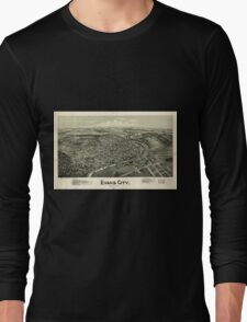 Panoramic Maps Evans City Pennsylvania 1900 Long Sleeve T-Shirt