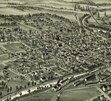 Panoramic Maps Evans City Pennsylvania 1900 Sticker