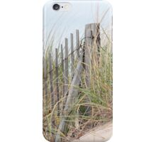 Fence in the sand dune iPhone Case/Skin
