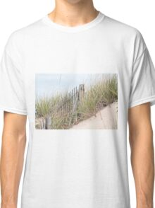 Fence in the sand dune Classic T-Shirt