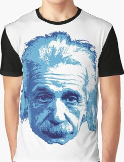 Albert Einstein - Theoretical Physicist - Blue Graphic T-Shirt