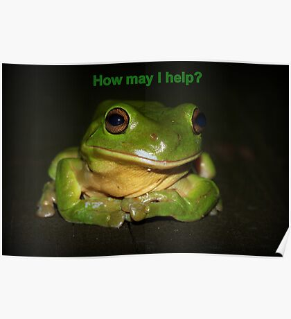 How may I help? Poster