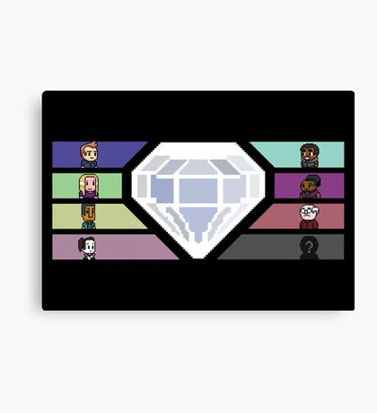 Pixel White Diamond | Community Canvas Print