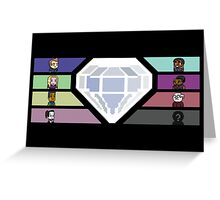 Pixel White Diamond | Community Greeting Card