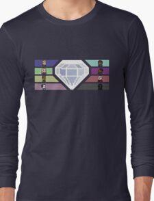 Pixel White Diamond   Community Long Sleeve T-Shirt
