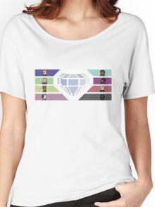 Pixel White Diamond | Community Women's Relaxed Fit T-Shirt