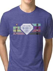 Pixel White Diamond | Community Tri-blend T-Shirt