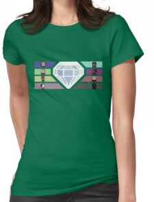 Pixel White Diamond | Community Womens Fitted T-Shirt