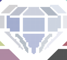 Pixel White Diamond | Community Sticker