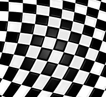 Checkered flag  by Mikeb10462
