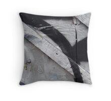 Chrome And Black Throw Pillow