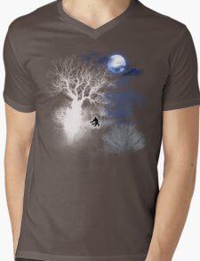 HOWLING MOON Mens V-Neck T-Shirt