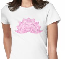 pink lotus mandala petals on blurred sunset with sun light flare T-Shirt