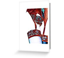 garter with butterfly Greeting Card