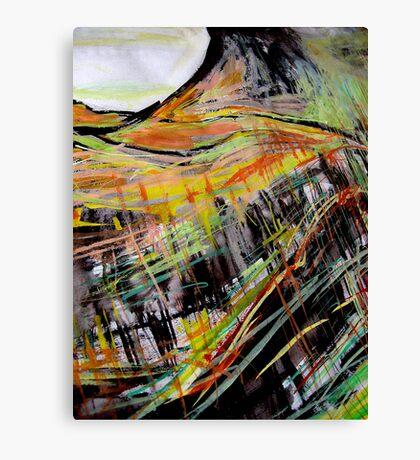 below table peak....black sketch wall Canvas Print