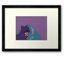Panther, dark violet - Gravity Falls Framed Print