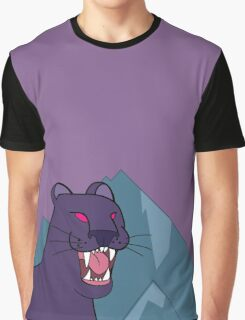 Panther, dark violet - Gravity Falls Graphic T-Shirt