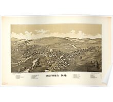 Panoramic Maps Oxford NY Poster