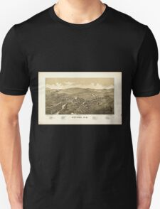 Panoramic Maps Oxford NY Unisex T-Shirt