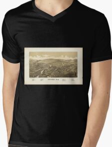 Panoramic Maps Oxford NY Mens V-Neck T-Shirt