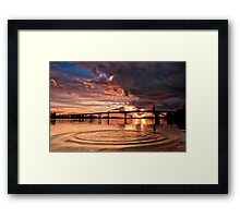 A Rock In The River Framed Print
