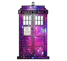 Starry Police Public Call Box. Photographic Print