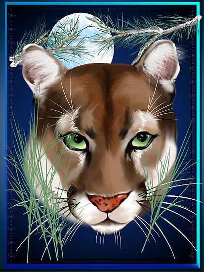 Midnight Mountain Lion by Lotacats