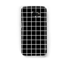 Thick Grid (white) Samsung Galaxy Case/Skin