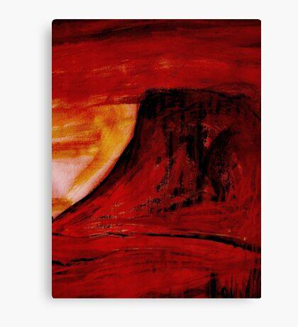 under a red sun.... Canvas Print