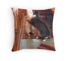 Mishu and Albie in a Dancing Mood Throw Pillow