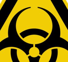 Biohazard Symbol Warning Sign - Yellow & Black - Triangular Sticker